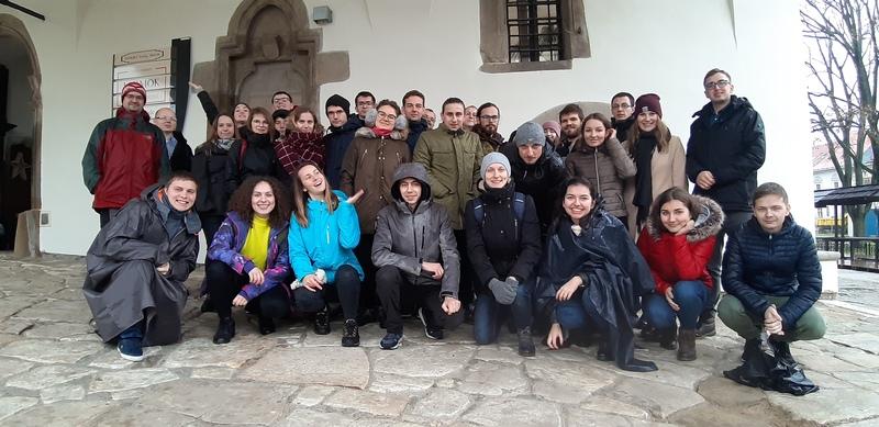 Studenci z DA Na Miasteczku pod Ratuszem w Lewoczy